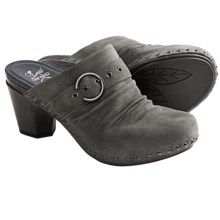 Dansko Nadine Kid Suede Mules (For Women) in Charcoal Kid Suede - Closeouts