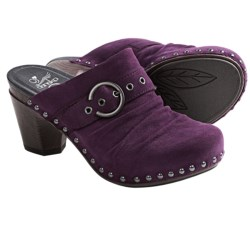 Dansko Nadine Kid Suede Mules (For Women) in Plum Kid Suede