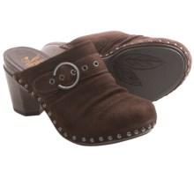 Dansko Nadine Shoes - Mules, Kid Suede  (For Women) in Chocolate Kid Suede - Closeouts