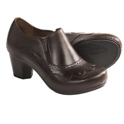 Dansko Nancy Leather Shoes - Side Zip (For Women) in Brown