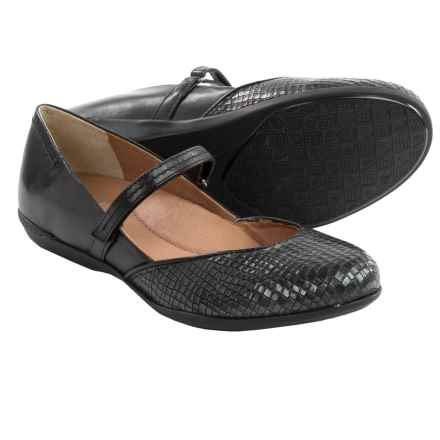 Dansko Nanette Mary Jane Shoes - Leather (For Women) in Black Croc Print - Closeouts