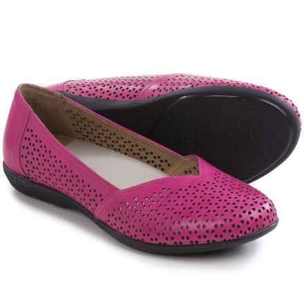 Dansko Neely Shoes - Leather, Slip-Ons (For Women) in Fuchsia Nappa - Closeouts