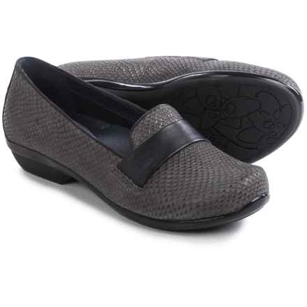 Dansko Oksana Shoes - Leather, Slip-Ons (For Women) in Grey Snake - Closeouts