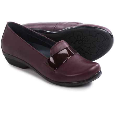 Dansko Oksana Shoes - Leather, Slip-Ons (For Women) in Wine Nappa - Closeouts