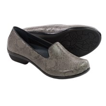 Dansko Olivia Shoes - Leather, Slip-Ons (For Women) in Grey Snake - Closeouts