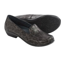 Dansko Olivia Shoes - Leather, Slip-Ons (For Women) in Metallic Leopard - Closeouts