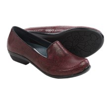 Dansko Olivia Shoes - Leather, Slip-Ons (For Women) in Wine Snake - Closeouts