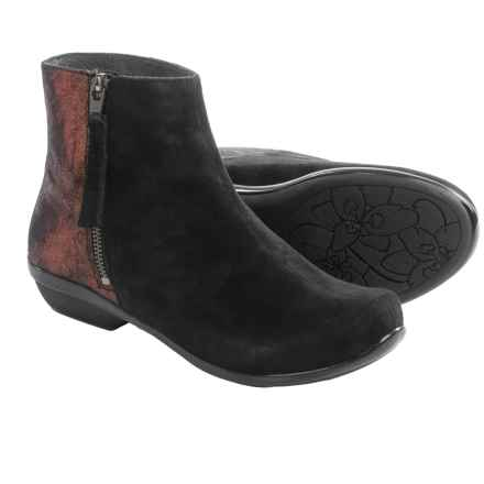 Dansko Otis Ankle Boots - Leather (For Women) in Black Kid Suede - Closeouts