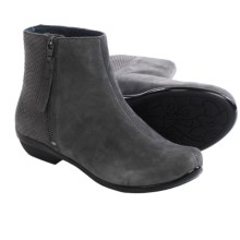 Dansko Otis Ankle Boots - Leather (For Women) in Grey Kid Suede - Closeouts