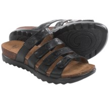 Dansko Paulina Sandals - Leather (For Women) in Black - Closeouts