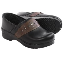 Dansko Pavan Leather Clogs (For Women) in Black Leather - Closeouts