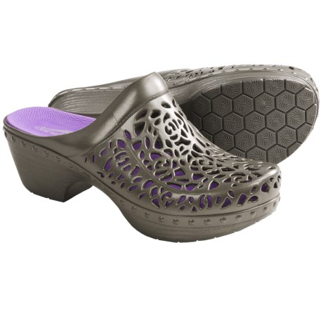 Dansko Pippa Open-Back Clogs (For Women) in Light Grey