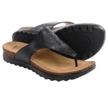 Dansko Priya Sandals -Leather (For Women) in Black Veg - Closeouts