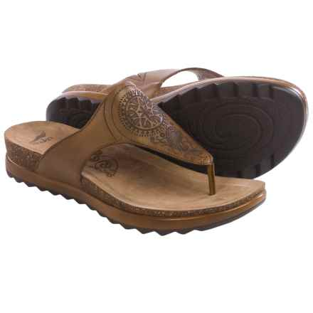 Dansko Priya Sandals -Leather (For Women) in Caramel Veg - Closeouts