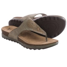 Dansko Priya Sandals -Leather (For Women) in Taupe Nubuck - Closeouts