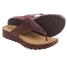 Dansko Priya Sandals -Leather (For Women) in Wine Veg - Closeouts