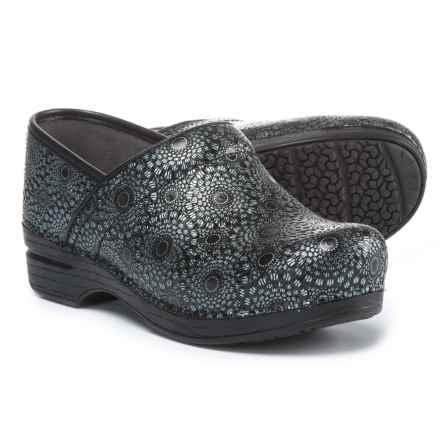 Dansko Pro XP Closed-Back Clogs - Leather (For Women) in Black Medallion Patent - Closeouts
