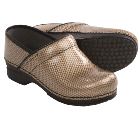Dansko Pro XP Leather Clogs (For Women) in Champagne Honeycomb