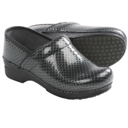 Dansko Pro XP Leather Clogs (For Women) in Charcoal Anaconda