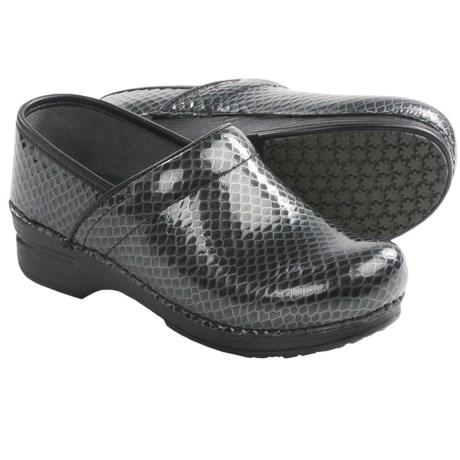 Dansko Pro XP Leather Clogs (For Women) in Charcoal Anaconda