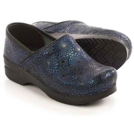 Dansko Professional Clogs - Leather (For Women) in Navy - Closeouts