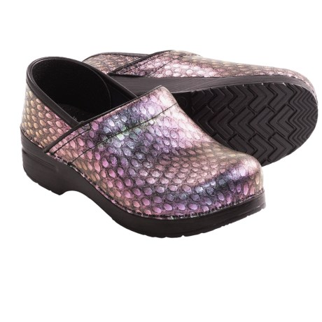 Dansko Professional Clogs - Leather (For Women) in Peacock