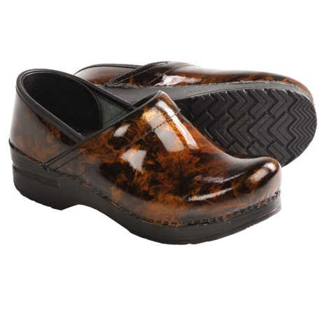 Dansko Professional Clogs - Patent Leather (For Women) in Copper Leaf