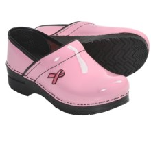 Dansko Professional Clogs - Patent Leather (For Women) in Pink Breast Cancer Awareness - Closeouts