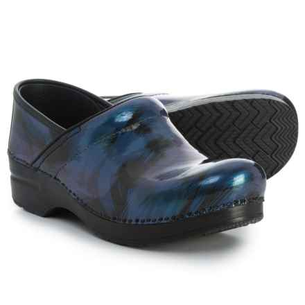 Dansko Professional Closed-Back Clogs - Leather (For Women) in Blue Shadow - Closeouts