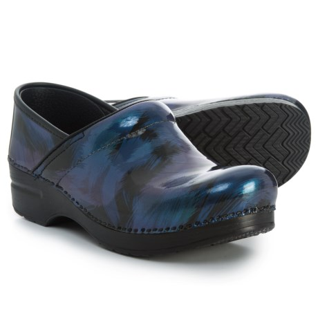 Dansko Professional Closed-Back Clogs - Leather (For Women) in Blue Shadow