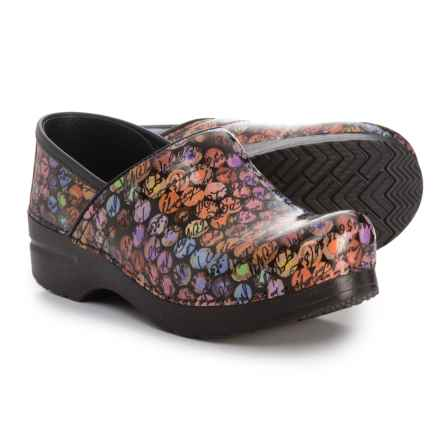 Dansko Professional Closed-Back Clogs - Leather (For Women) in Script - Closeouts