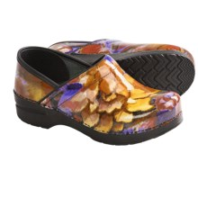 Dansko Professional Print Clogs - Patent Leather (For Women) in Fresco - Closeouts