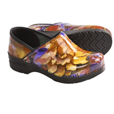 Dansko Professional Print Clogs - Patent Leather (For Women) in Fresco