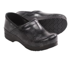 Dansko Professional Textured Clogs - Leather (For Women) in Grey - Closeouts