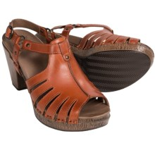 Dansko Randa Leather Sandals (For Women) in Tangerine Full Grain - Closeouts