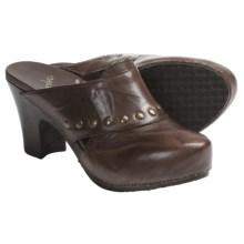 Dansko Rudy Clogs - Leather (For Women) in Brown Full Grain - Closeouts