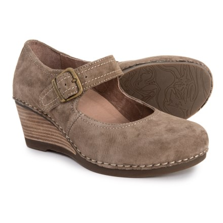 5eabbf3abb4 Dansko Sandra Wedge Mary Jane Shoes - Leather (For Women) in Taupe Suede