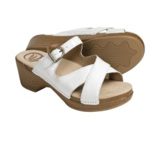 Dansko Sela Sandals - Leather (For Women) in White Crinkle Patent - Closeouts