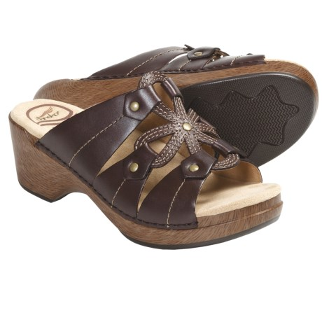 Dansko Serena Sandals - Leather (For Women) in Brandy