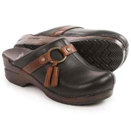 Dansko Shandi Clogs - Leather (For Women) in Black Full Grain - Closeouts