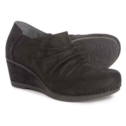 Dansko Sheena Wedge Shooties - Nubuck (For Women) in Black Nubuck