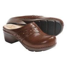 Dansko Shyanne Clogs - Leather (For Women) in Saddle Full Grain - Closeouts