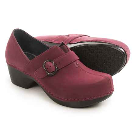 Dansko Tamara Shoes - Leather (For Women) in Wine Nubuck - Closeouts