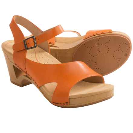 Dansko Tasha Ankle Strap Sandals (For Women) in Tangerine - Closeouts
