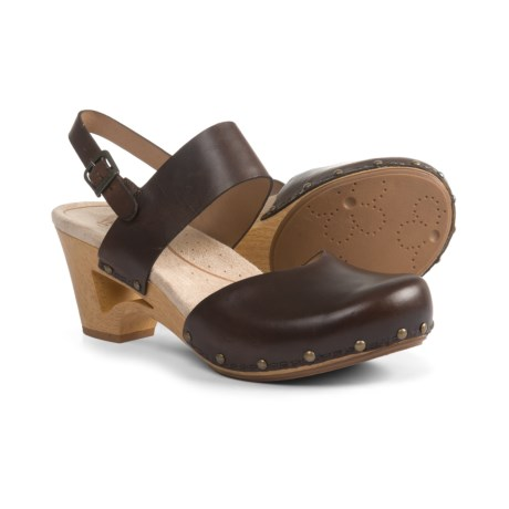 Dansko Thea Pull-Up Clogs - Leather (For Women) in Teak Vintage Pull