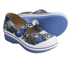Dansko Valentine Mary Jane Shoes - Canvas (For Girls) in Blue Hawaii - Closeouts