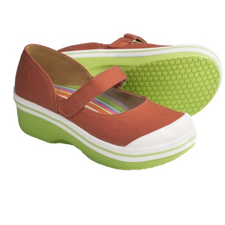 Dansko Valentine Mary Jane Shoes - Canvas (For Girls) in Orange
