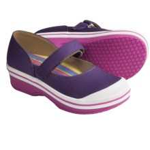 Dansko Valentine Mary Jane Shoes - Canvas (For Girls) in Purple - Closeouts