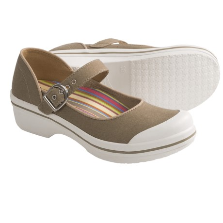 Dansko Valerie Mary Jane Shoes (For Women) in Sand Canvas