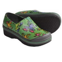 Dansko Vesta Clogs - Coated Canvas, Slip-Ons (For Boys and Girls) in Green Frog Coated - Closeouts